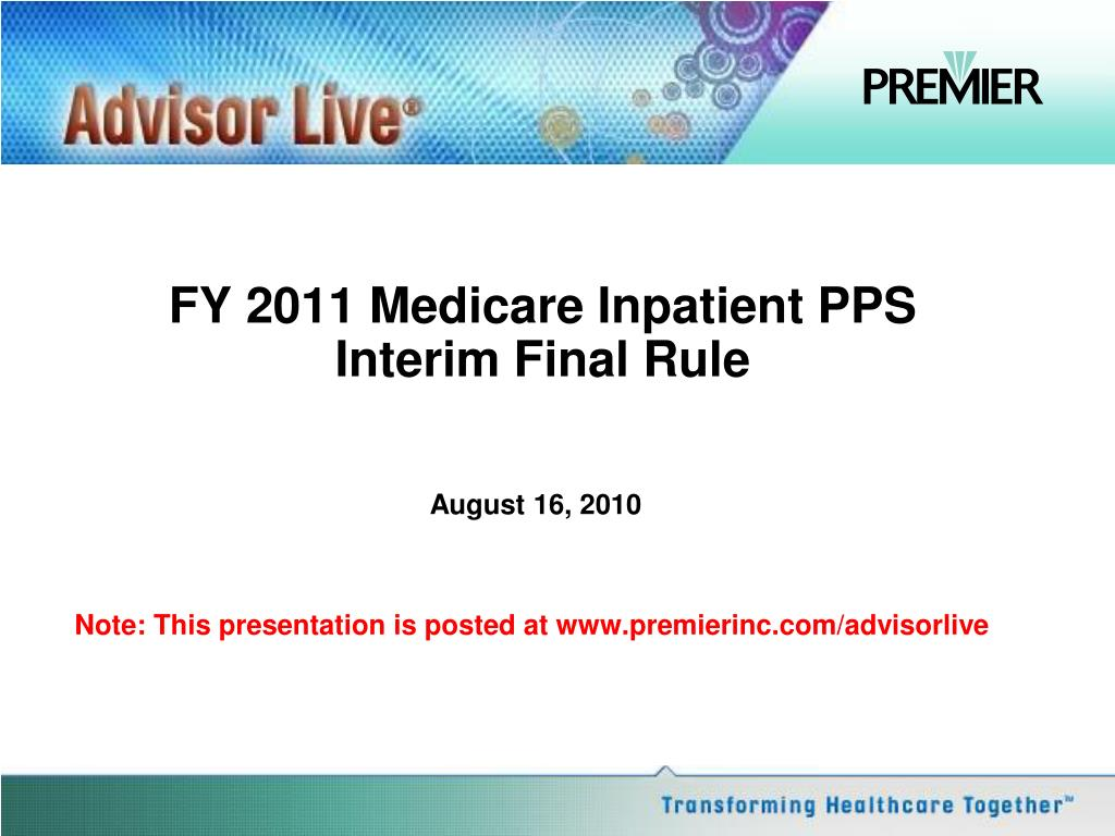 fy 2011 medicare inpatient pps interim final rule l.
