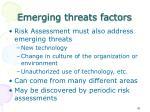emerging threats factors