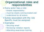 organizational roles and responsibilities
