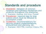 standards and procedure