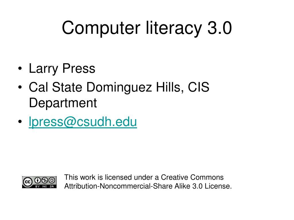 computer literacy 3 0 l.