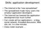 skills application development