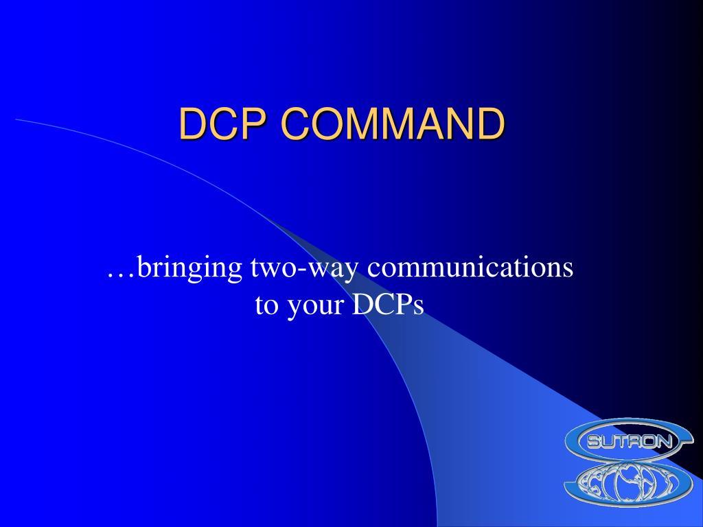dcp command l.