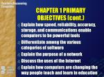 chapter 1 primary objectives cont