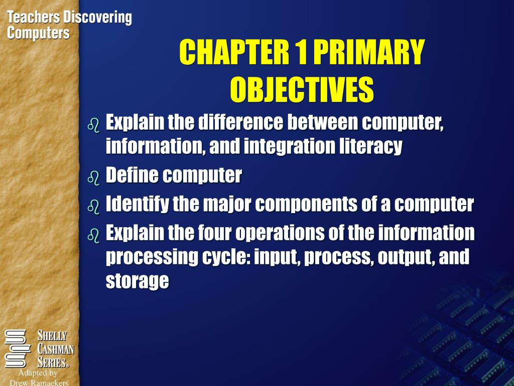 chapter 1 primary objectives l.
