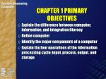 chapter 1 primary objectives