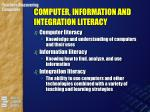 computer information and integration literacy