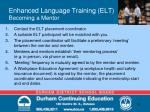 enhanced language training elt becoming a mentor