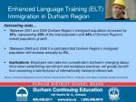 enhanced language training elt immigration in durham region