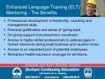 enhanced language training elt mentoring the benefits