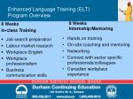 enhanced language training elt program overview4