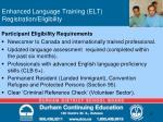 enhanced language training elt registration eligibility