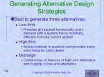 generating alternative design strategies