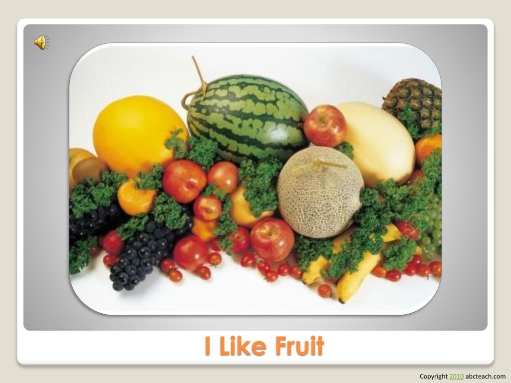 i like fruit l.