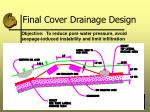 final cover drainage design