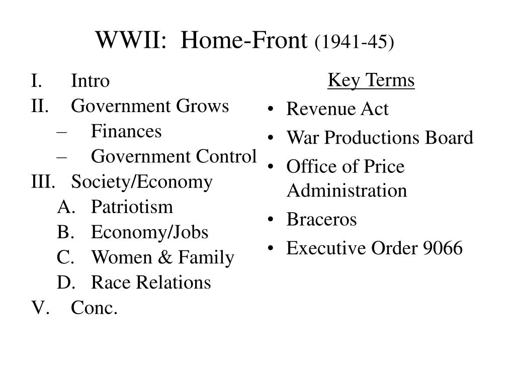 wwii home front 1941 45 l.