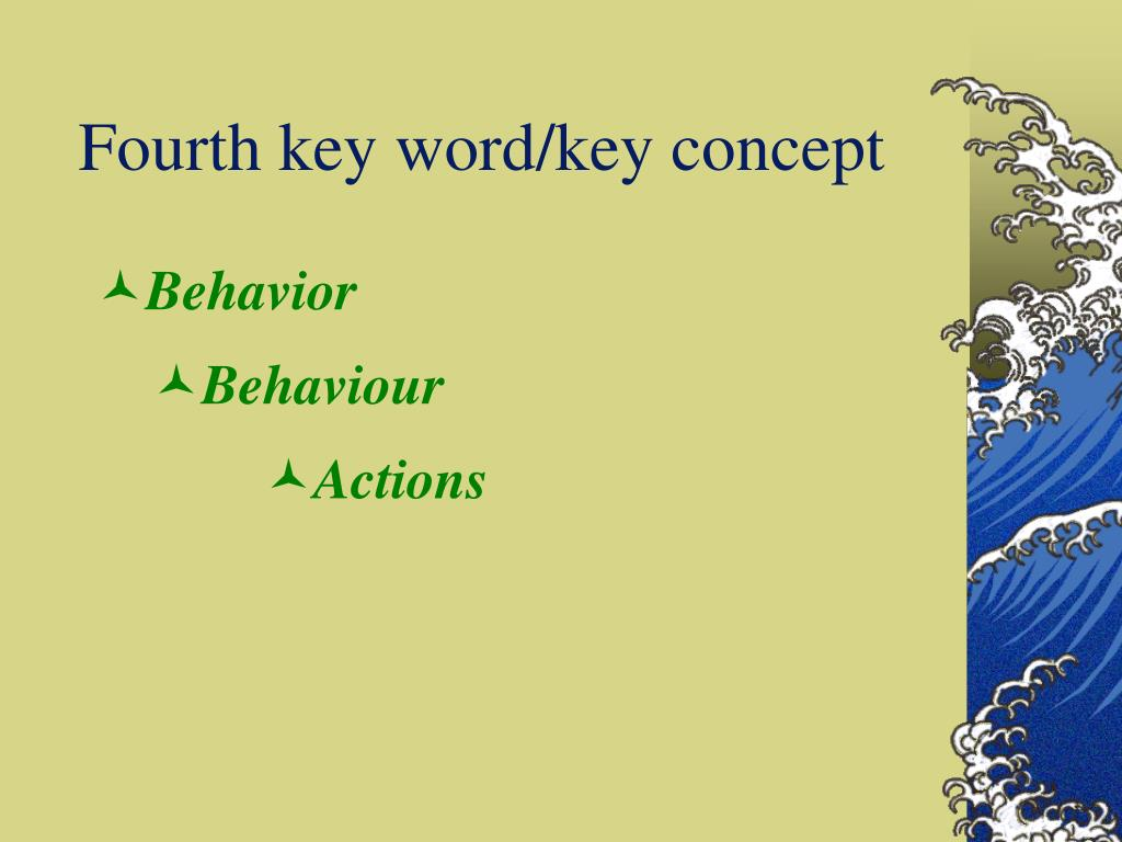 Fourth key word/key concept