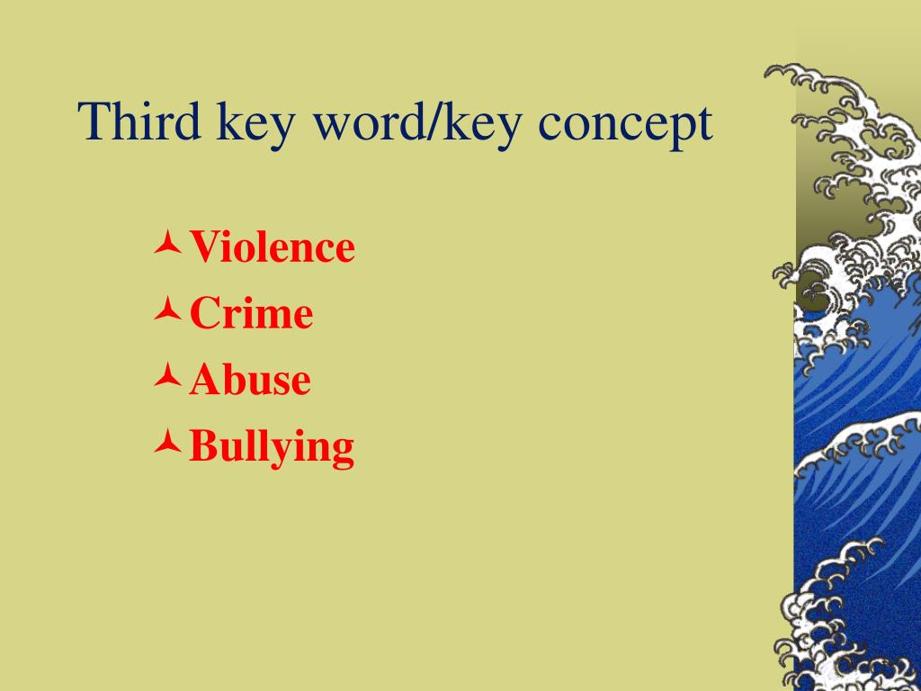 Third key word/key concept