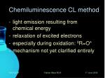 chemiluminescence cl method