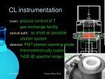 cl instrumentation