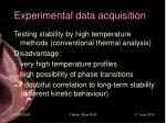 experimental data acquisition