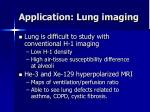 application lung imaging