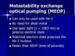 metastability exchange optical pumping meop