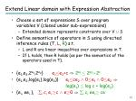 extend linear domain with expression abstraction