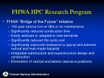 fhwa hpc research program