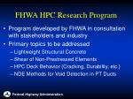 fhwa hpc research program4