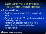 shear capacity of non prestressed high strength concrete members17