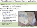 paleolithic art in western europe and africa6