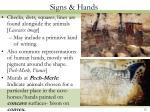 signs hands