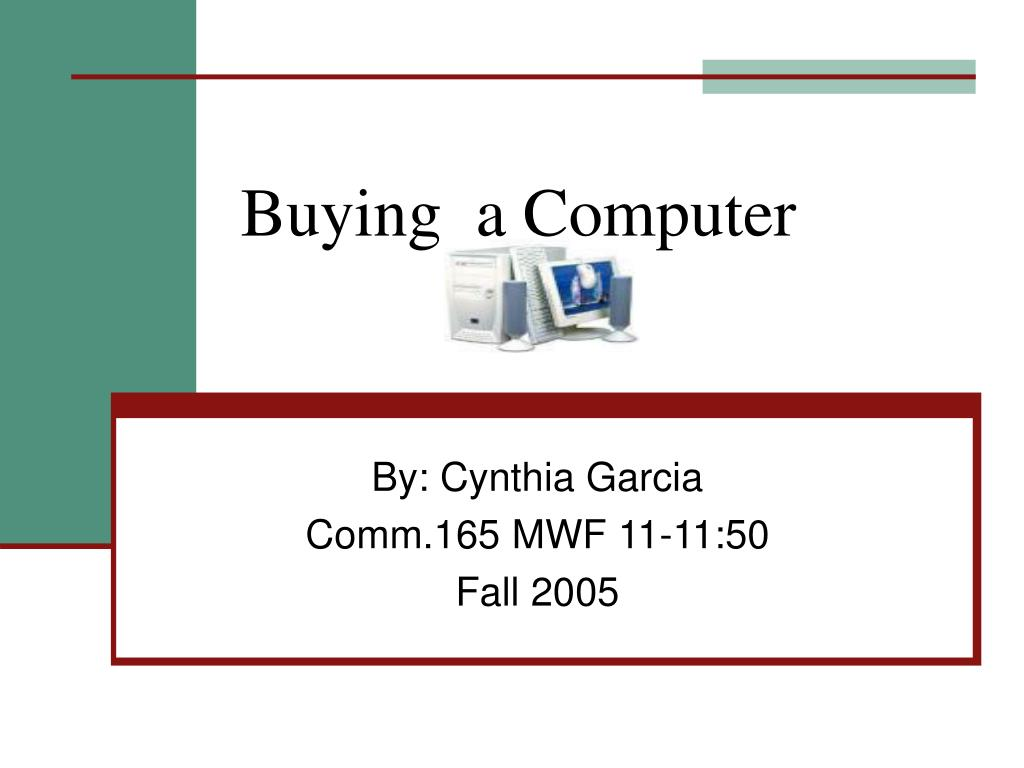 buying a computer l.
