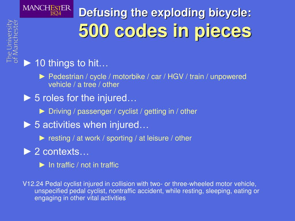 Defusing the exploding bicycle: