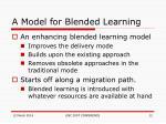 a model for blended learning