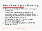 blended learning and e learning