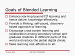goals of blended learning