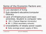 some of the economic factors are