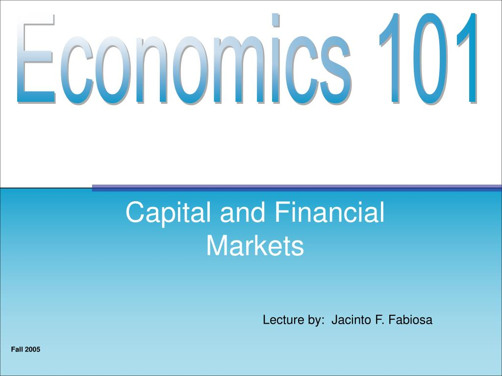 capital and financial markets l.