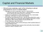 capital and financial markets2