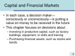 capital and financial markets3