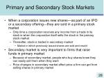 primary and secondary stock markets