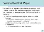 reading the stock pages37