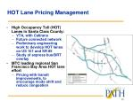 hot lane pricing management