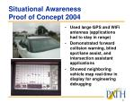 situational awareness proof of concept 2004