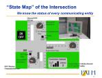 state map of the intersection we know the status of every communicating entity