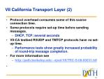 vii california transport layer 2