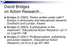 david bridges on action research