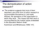 the domestication of action research